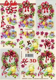 3D sheet Weihnachtskränze - Format A4