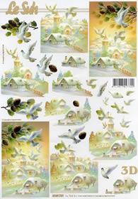3D Bogen Winterlandschaft - Format A4