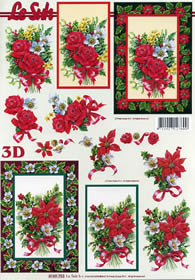 3D Bogen Weihnachten im Rahmen - Format A4