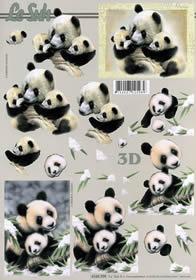 3D sheet Panda - Format A4
