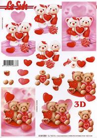 3D sheet Valentinskarte 1 - Format A4