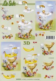 Feuille 3D Taufe - Format A4