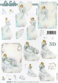 3D sheet Brautpaar - Format A4