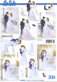Hojas de 3D Brautpaar - Formato A4