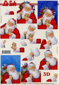 Hojas de 3D Weihnachtsmann - Formato A4