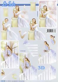 3D sheet Junge Frau - Format A4