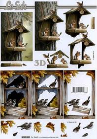 3D sheet Vogelhaus - Format A4
