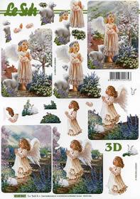 Hojas de 3D M?dchen - Engel - Formato A4