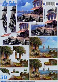 Hojas de 3D Meeresblick - Terrasse - Formato A4