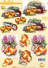 3D Bogen Kürbisse - Format A4