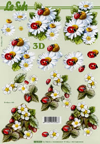 3D Bogen Marienkäfer - Format A4