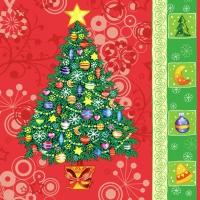 Lunch Servietten Christmastree red