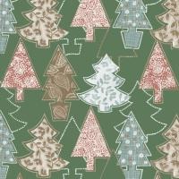 Serviettes de table 33x33 cm - Arbre de Noël graphique