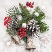 Serviettes de table 33x33 cm - Weihnachtsgesteck