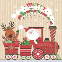 Lunch napkins Santa Express