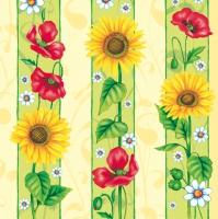Lunch Servietten poppy and sunflower