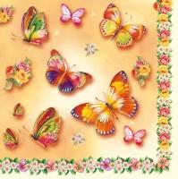 Lunch Servietten butterflies and flowers