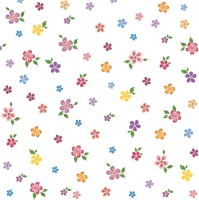 Lunch Servietten small colourful flowers