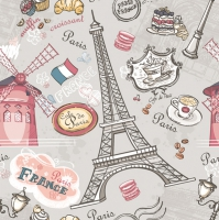 Lunch napkins The Sights of Paris