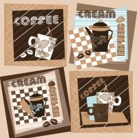 Lunch Servietten Graphic Coffee Sqares