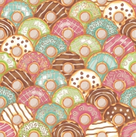 Lunch napkins Colourful Donuts