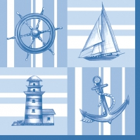 Lunch napkins Nautical Pattern