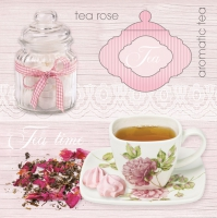 Lunch napkins Pink Tea Background