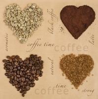 Lunch Servietten Coffee Hearts