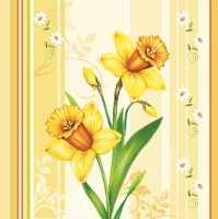 Serviettes lunch Narcissus and stripes