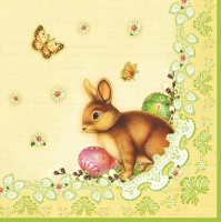 Lunch napkins easter bunny of light green