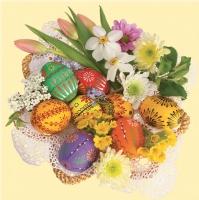 Lunch napkins Strau? mit Ostereiern+Blumen