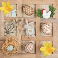 Serviettes lunch easter collage frame