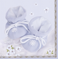 Serviettes lunch Baby blue