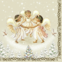 Lunch napkins Three Angels cream