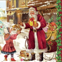 Lunch napkins Santa with child