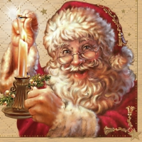 Lunch napkins Weihnachtsmann mit Kerze
