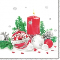 Napkins 33x33 cm - Christmas candle