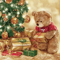 Serviettes lunch X-Mas Teddy