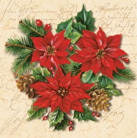 Napkins 33x33 cm - Poinsettia Composition