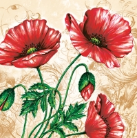Lunch napkins Mohn cream