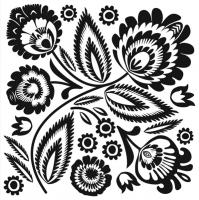 Lunch napkins Schwarz/Weiß Muster