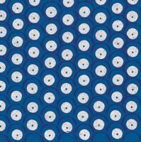 Lunch napkins weisse Punkte auf Blau