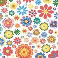 Lunch Servietten Blumen Muster