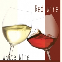 Lunch Servietten Red/White Wine