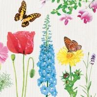 Lunch napkins Blumen und Schmetterlinge