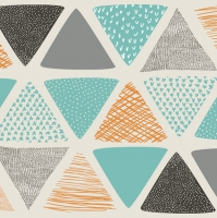 Serviettes lunch Patterned Triangles