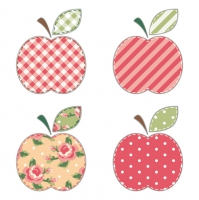 Lunch Servietten Patchwork Appels