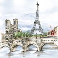Lunch napkins Paris in Watercolour