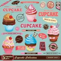 Lunch Servietten Vintage Cupcake Poster