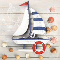 Lunch napkins Ship & Shells